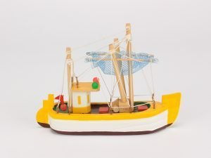 Wooden Model Boats - Mini Fishing Boat
