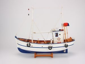 White & Blue Fishing Boat