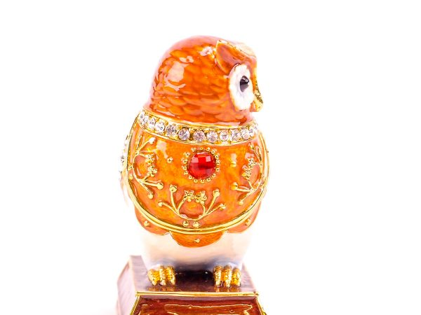 Cloisonne Owl on Plinth