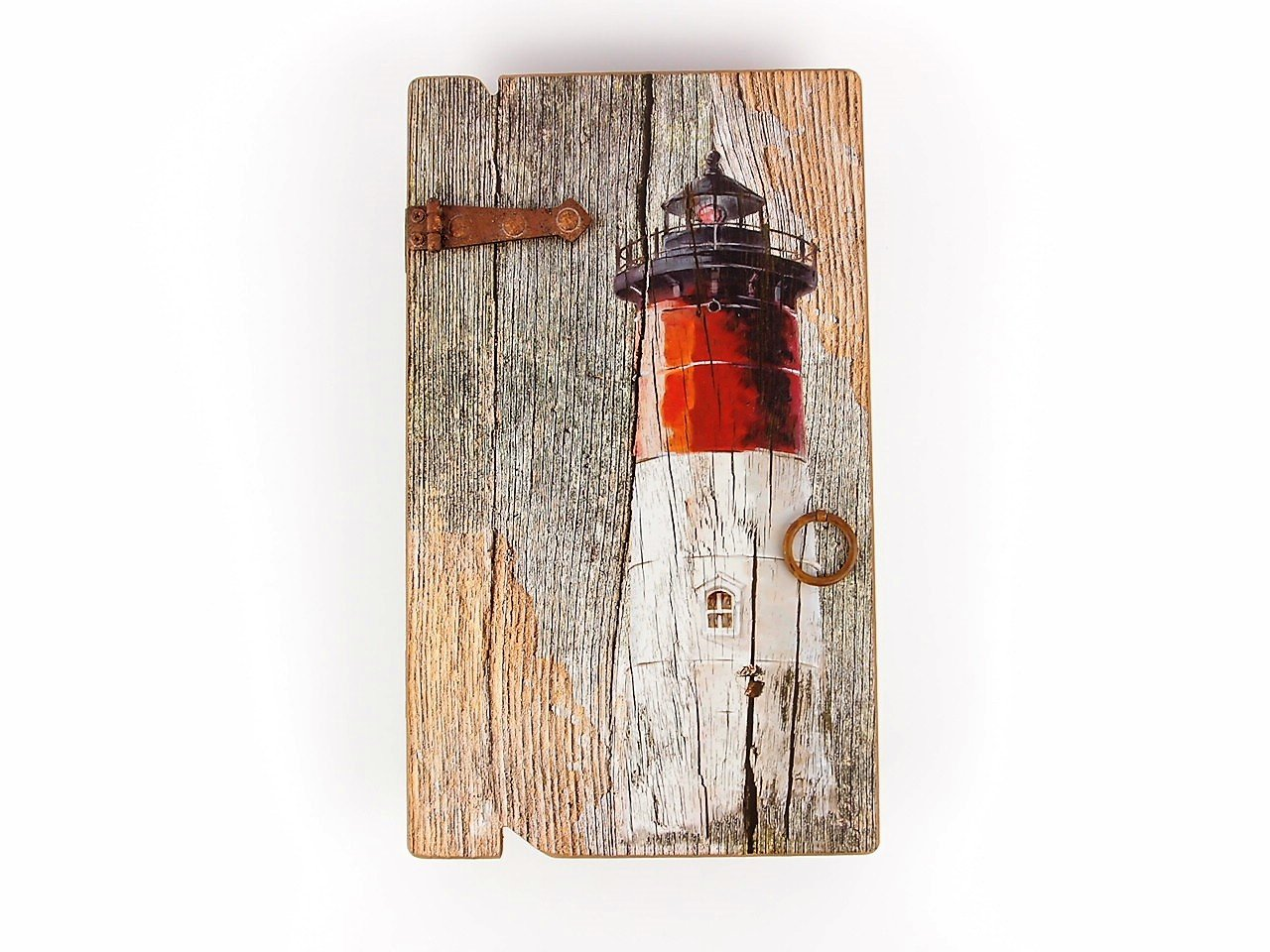 Nautical Gifts - Red Lighthouse Key-box