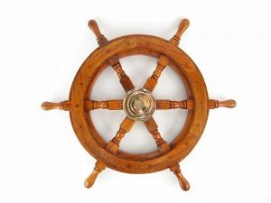 Ship's Wheel 60cm - Nautical Brass Gifts - Shore And More Gifts