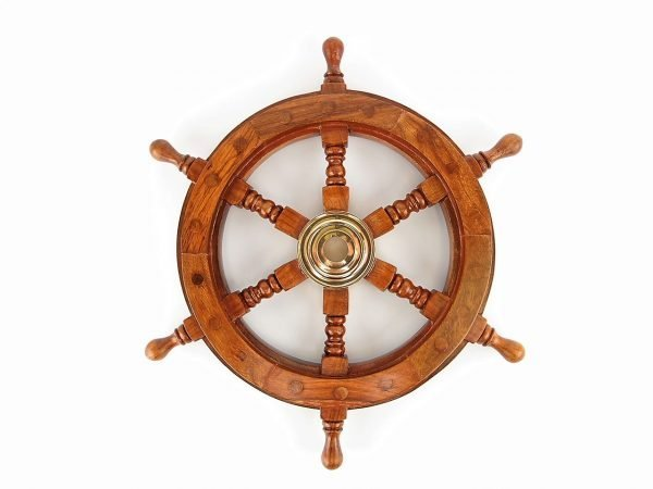 Ship's Wheel 30cm - Nautical Brass Gifts - Shore And More Gifts
