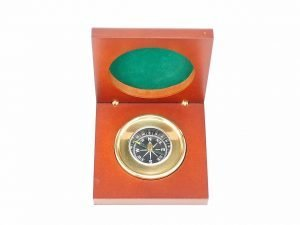 Compass in Wooden Presentation Box