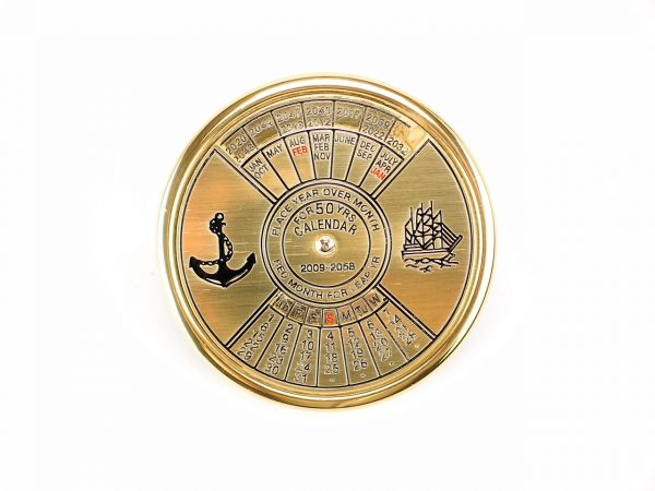 50 Year Brass Calendar