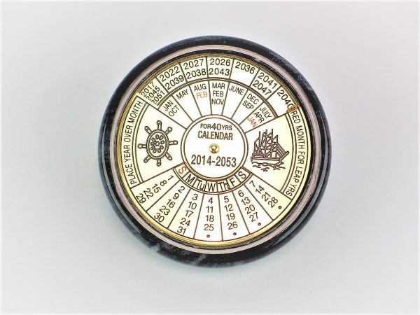 40 Year Calendar Paperweight (Marble)