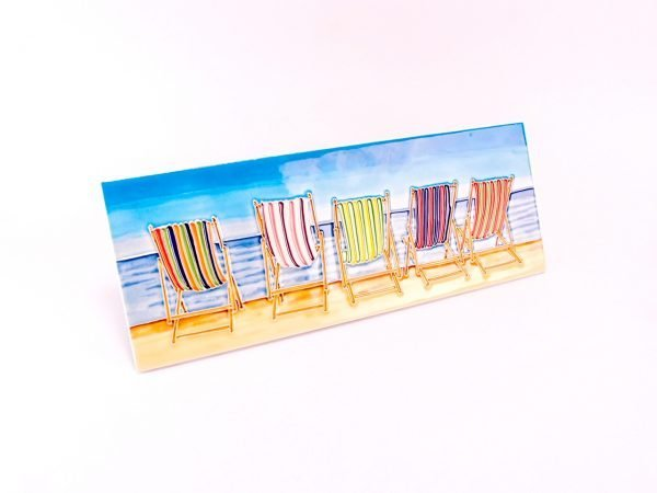 Ceramic Plaque - Deck Chairs