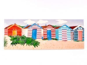 Ceramic Plaque - Beach Huts