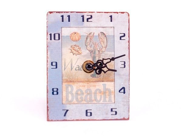 Rustic Seaside Metal Clocks